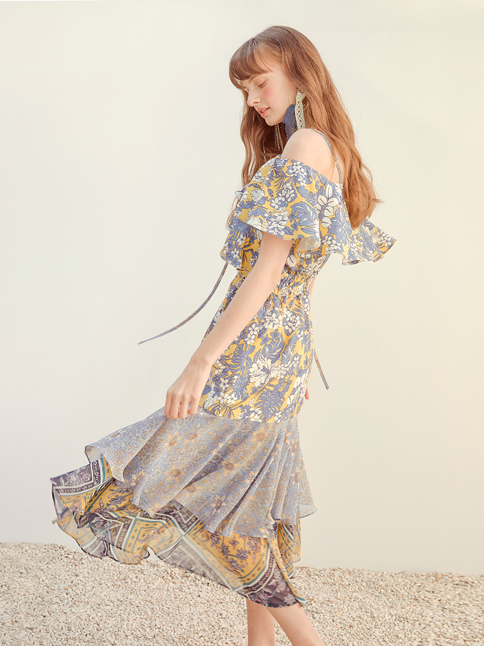 Two Way Flower Dress, Yellow