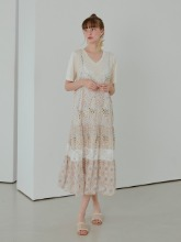 Slip Cancan Lace Dress, Cream