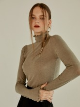 Bell Sleeve Turtleneck, Khaki